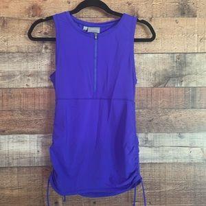 Athleta purple front zip top, size XS